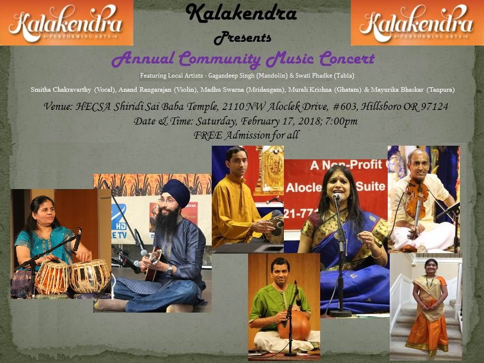 Kalakendra Present Annual Community Music Concert - 2018