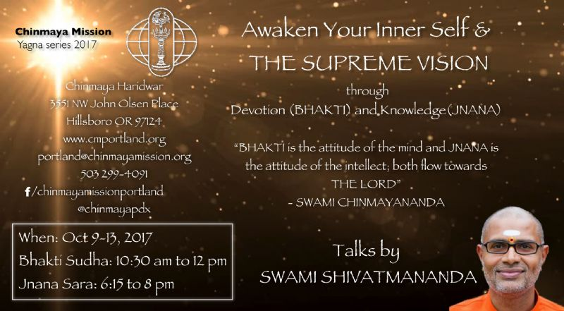 Yagna Series by Swami Shivatmananda at Chinmaya Mission