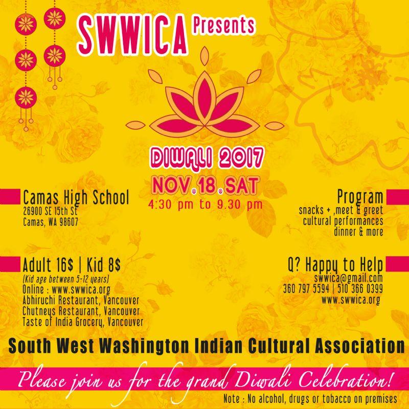 Diwali : Southwest Washington Indian Cultural Association