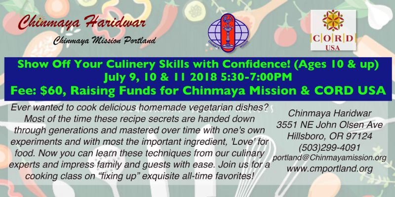 ABCs of Cooking July 9, 10 & 11 2018 5:30-7PM Ages 10 & up